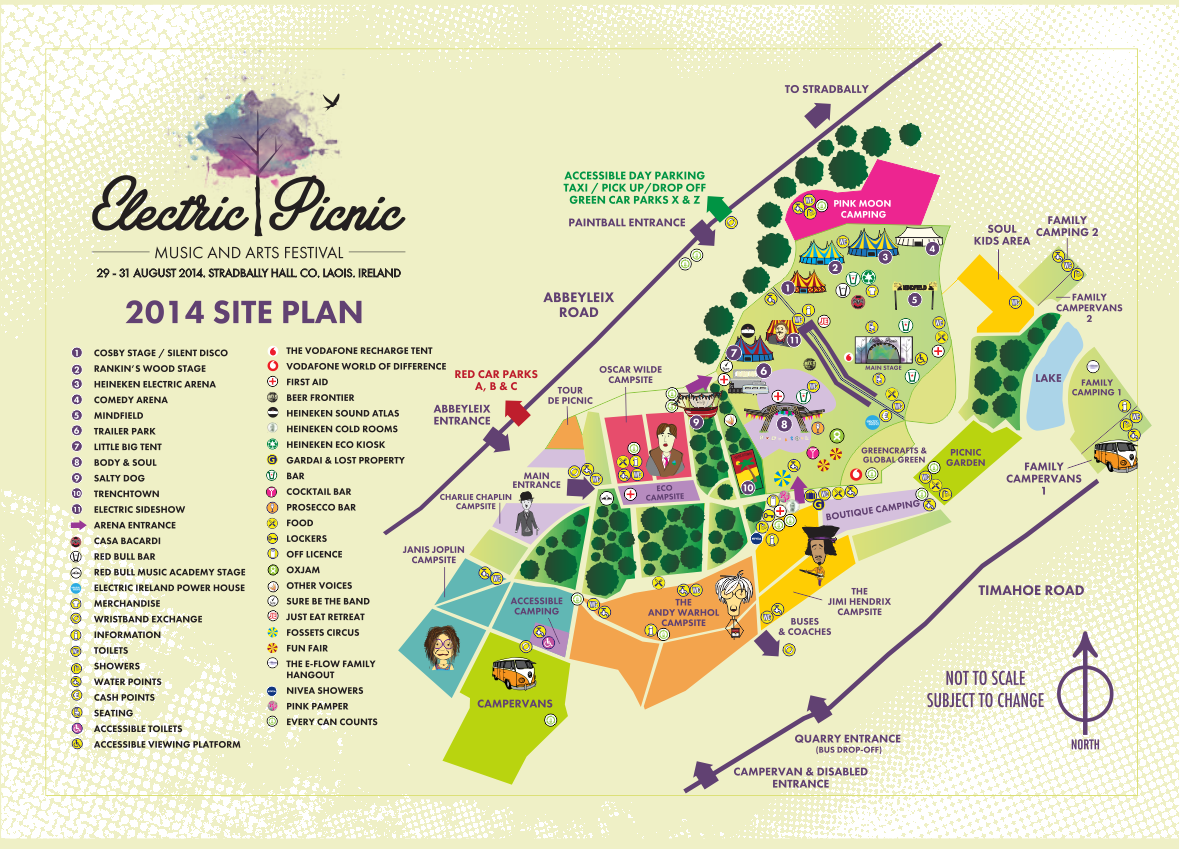 Electric Picnic 2014 - Map
