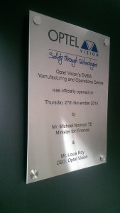 optelvision - brushed steel plaque