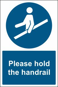 Please Hold The Handrail Sign Buy Online Css Signs Shop