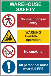 Warehouse signs catalogue available for download or purchase at CSS-Signs.ie