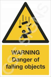 Warning Danger of Falling Objects Safety Sign