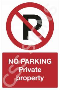 No Parking Private Property Safety Sign