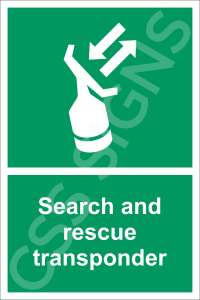 Search and Rescue Transponder Safety Sign