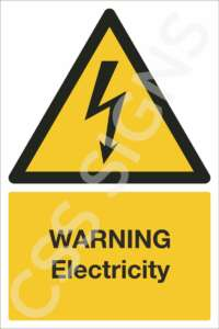warning electricity safety sign