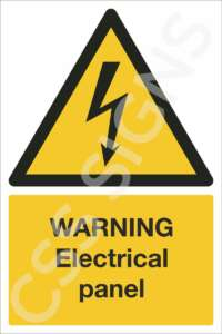 warning electrical panel safety sign