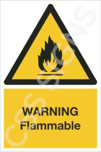warning flammable safety sign