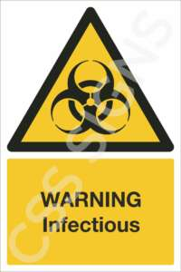 Warning Infectious Safety Sign
