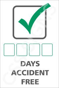 Days Accident Free Sign