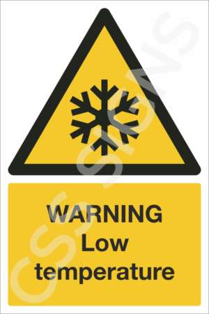 Warning Low Temperature Sign