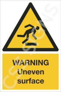 Warning Uneven Surface Safety Sign