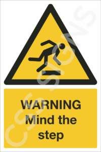 Warning Mind the Step Safety Sign