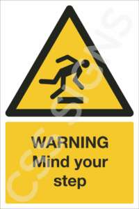 Warning Mind Your Step Safety Sign