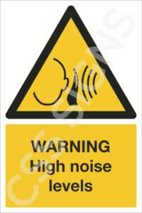 Warning High Noise Levels Safety Sign