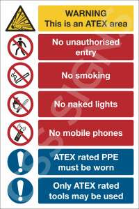 Atex Rules Sign