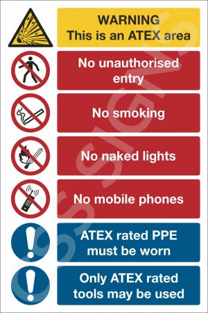 ATEX Area Safety Notice Safety Sign