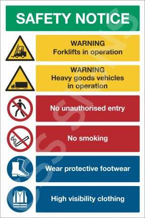 Warehouse Safety Notice Sign