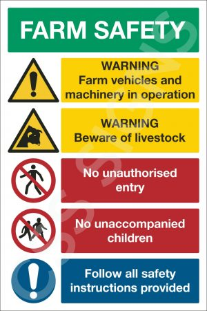 Farm Safety Notice (5 Point) Sign