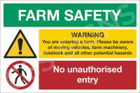 Farm Safety Notice (2 Point) Sign