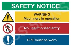 Industrial Safety Notice Sign