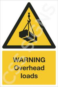 Warning Overhead Loads Safety Sign