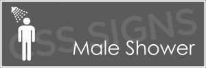 Male Shower Sign