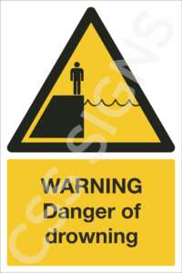 Warning Danger of Drowning Safety Sign