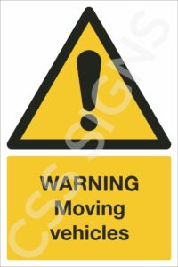 Warning Moving Vehicles Safety Sign