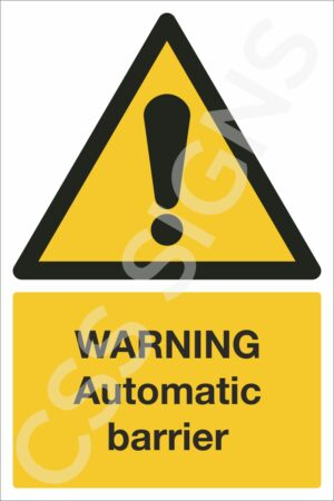 Warning Automatic Barrier Sign