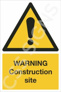 Warning Construction SIte Safety Sign