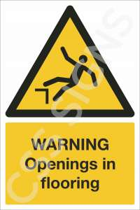 Warning Opening in Flooring Safety Sign