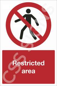 Restricted Area Safety Sign