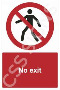 No Exit Safety Sign