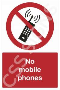 No Mobile Phones Safety Sign