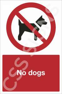 No Dogs Safety Sign