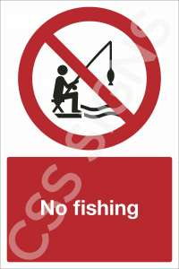 No Fishing Safety Sign