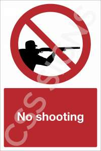 No Shooting Safety Sign