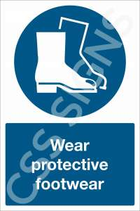 Wear Protective Footwear Safety Sign