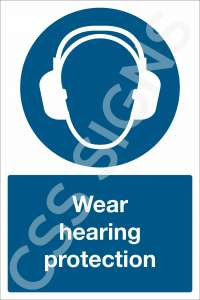 Wear Hearing Protection Safety Sign
