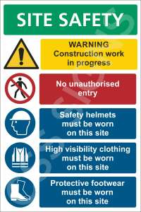 Site Safety Notice (5 Point) Sign