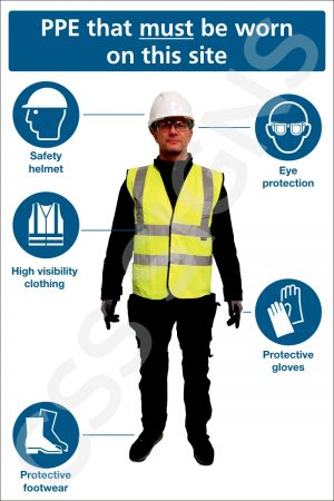 Construction Site PPE Safety Sign