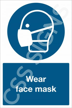 Wear Face Mask Safety Sign