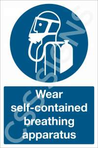 Wear Self Contained Breathing Apparatus Safety Sign