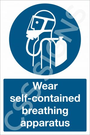 Wear Self-Contained Breathing Apparatus Sign