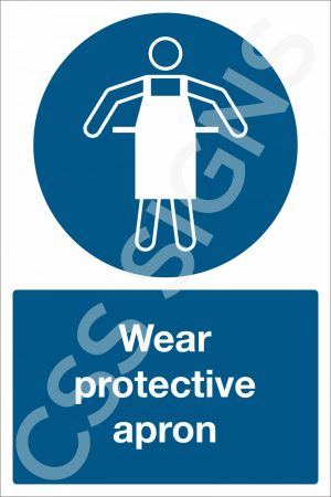Wear Protective Apron Safety Sign