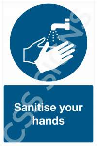Sanitise Your Hands Safety Sign
