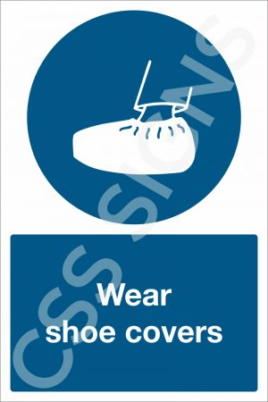 Wear Shoe Covers Sign