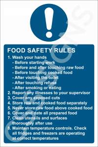 Food Safety Rules Safety Sign
