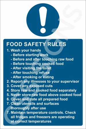 Food Safety Rules Sign
