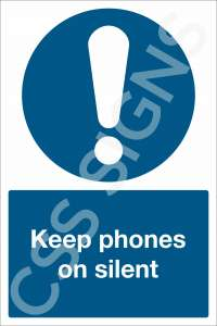 Keep Phones on Silent Sign