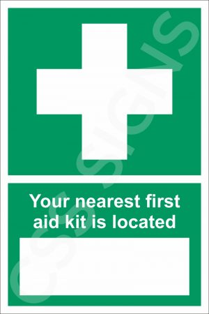 First Aid Kit Location Sign